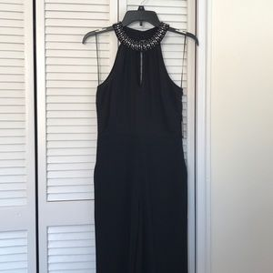 GUESS Black Jumpsuit, embellished neckline, size 2